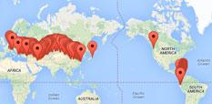 Die Reisegruppe via GPS-Tracking begleiten